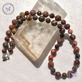 Leopard Skin Jasper Bead Necklace